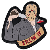 Friday the 13th - Jason Voorhees 'Killin' It' Embroidered Patch