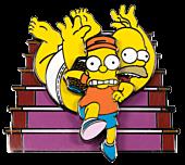 The Simpsons - Bart Raids Homer's Change Jar Spinning Enamel Pin