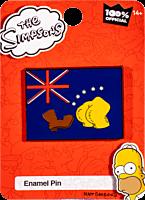 The Simpsons - Bart Vs Australia Booting Flag Enamel Pin