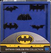 Batman - Batman Emblem Black Chrome Lapel Pin Collection 5-Pack