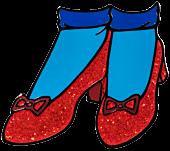 Wizard of Oz - Ruby Slippers Glitter Enamel Pin