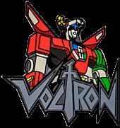 Voltron - Voltron Bust with Logo Enamel Pin