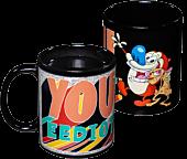 Ren & Stimpy - You Eediot! Heat Change Coffee Mug