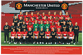 Manchester United FC - Team 2012/13 Poster