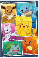 Pokemon - Character Panels Poster (1112)