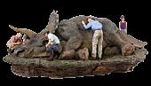 Jurassic Park - Triceratops Deluxe 1/10th Scale Diorama Statue