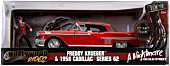 A Nightmare on Elm Street - 1958 Cadillac s62 1/24th Scale Die-Cast Vehicle with Figure