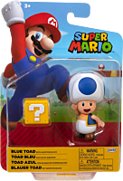 """Nintendo - Blue Toad with Question Block 4"""" Action Figure"""