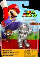 "Nintendo - Metal Mario with Trophy 4"" Action Figure"