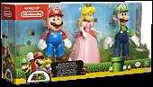 """Super Mario - Mario, Peach & Luigi Mushroom Kingdom 4"""" Action Figure 3-Pack"""