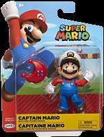 "Super Mario - Captain Mario with Red Power Moon 4"" Action Figure"