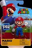 "Nintendo - Mario with Pow Block 4"" Action Figure"