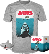 "Jaws - Bloody Great White Shark 6"" Super Sized Pop! Vinyl Figure & T-Shirt Box Set."