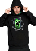 Minecraft - Creeper Inside Black Hoodie (Unisex)