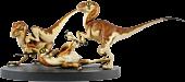 Jurassic Park - Baby Raptors 1:1 Scale Diorama Statue by Crash McCreery