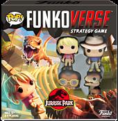 Jurassic Park - Ellie Sattler, Alan Grant, Ray Arnold & Velociraptor Pop! Funkoverse Strategy Game 4-Pack