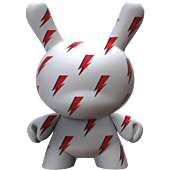 "Dunny - David Bowie Lightning Bolt 8"" Vinyl Figure"