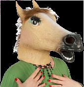 Lady Horse - Latex Full Head Mask