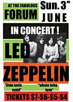 Led Zeppelin - In Concert! The Forum, Inglewood 1973 Art Print