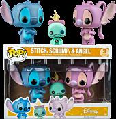 Stitch, Scrump & Angel Pop! Vinyl Figure 3-Pack