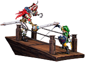 Link vs Scervo Sandship Diorama