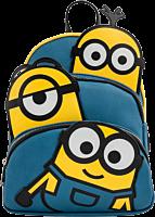 "Minions - Triple Minion Bello 11"" Faux Leather Mini Backpack"