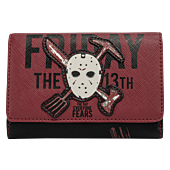 """Friday the 13th - Jason Voorhees Glow in the Dark 6"""" Faux Leather Tri-Fold Wallet"""