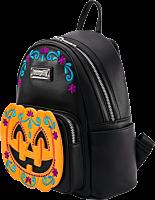 "Loungefly - Halloween Pumpkin 10"" Faux Leather Mini Backpack"