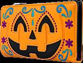 """Loungefly - Halloween Pumpkin 6"""" Faux Leather Flap Wallet"""