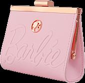 """Barbie - Logo 5"""" Rose Gold Kisslock Wallet"""