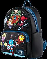 "Marvel - Chibi Group Scene 13"" Faux Leather Mini Backpack"