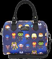 """Avengers 4: Endgame - Avengers Chibi Print 11.5"""" Faux-Leather Mini Duffle Bag 1"""