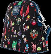 "Marvel - Chibi Group Print 9"" Faux Leather Crossbody Bag"