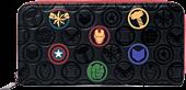 LOUMVWA0126-Marvel-Debossed-Icons-8-Faux-Leather-Zip-Around-Wallet