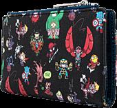 "Marvel - Chibi Group Print 6"" Faux Leather Flap Wallet"