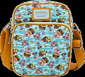 "SpongeBob SquarePants - Krusty Krab Gang 8"" Faux Leather Crossbody Passport Bag"