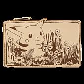 """Pokemon - Sepia Pikachu 4"""" Faux Leather Flap Wallet"""