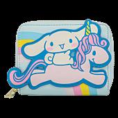 "Sanrio - Cinnamoroll on Unicorn 5"" Faux Leather Zip-Around Wallet"