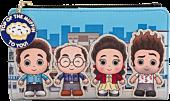 "Seinfeld - City Chibi 6"" Faux Leather Flap Wallet"