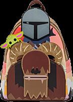 "Star Wars: The Mandalorian - Bantha Ride 10"" Faux Leather Mini Backpack"