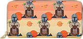 "Star Wars: The Mandalorian - Bantha Ride 8"" Faux Leather Zip-Around Wallet"