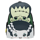 """Bride of Frankenstein (1935) - The Monster & The Bride Cosplay 10"""" Faux Leather Mini Backpack"""