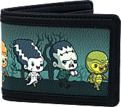 "Universal Monsters - Chibi Monsters Print 4"" Faux Leather Bi-Fold Wallet"