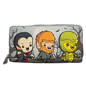 """Universal Monsters - Chibi Monsters 8"""" Faux Leather Zip-Around Wallet"""