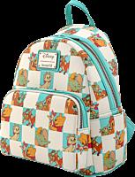 "Disney - Classics Mint Checker Print 10"" Faux Leather Mini Backpack"