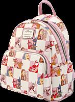 "Disney - Princess Sidekicks Rose Checker Print 10"" Faux Leather Mini Backpack"