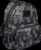 "Disney - Villains Debossed Print 10"" Faux Leather Mini Backpack"