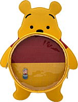 """Winnie the Pooh - Pin Trader 13"""" Faux Leather Convertible Mini Backpack"""