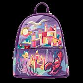 """Disney Princess - Ariel Castle 10"""" Faux Leather Mini Backpack"""