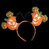 Mickey Mouse - Mick-O-Lantern  Glow in the Dark Ears Faux Leather Headband